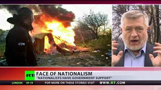 'Shielding with patriotism': Ukrainian neo-Nazis demolish Roma camp in Kiev
