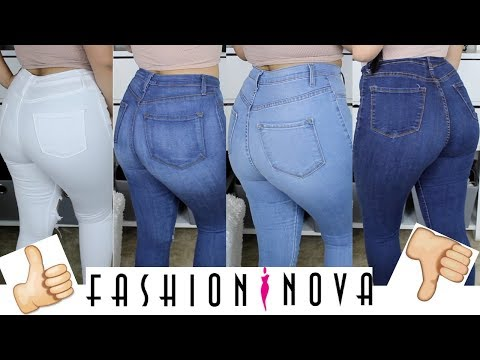 ♡ FASHION NOVA JEAN TRY ON HAUL/REVIEW ♡