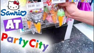 HELLO KITTY + JUMBO SQUISHIES, SLIME + SQUEEZE TOYS AT PARTY CITY!