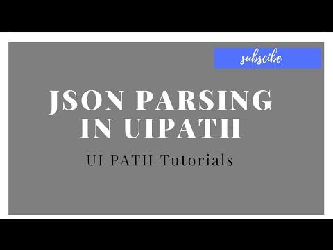 JSON Parse UI Path Part-2 Uipath tutorials for beginners - смотреть
