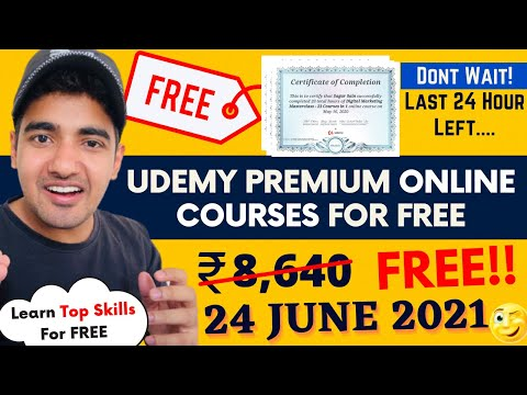 Udemy Free Courses With Free Certificates | Certified Free Online Courses #UdemyCoupon #TrickyMan