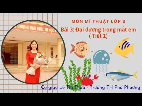 Bài 3: Đại dương trong mắt em (tiết 1). Mĩ thuật 2. Cô giáo Lê Thị Thoa - Trường TH Phú Phương.