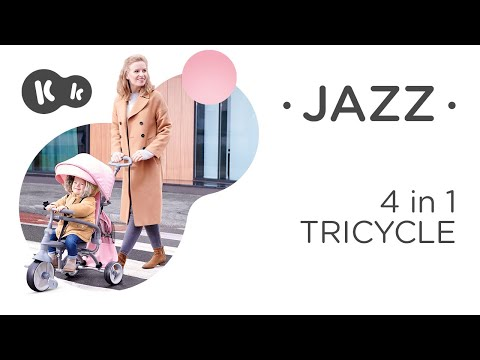 Multifunktsionaalne kolmerattaline jalgratas lisatarvikutega Kinderkraft Jazz, pink
