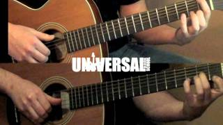 Dual guitar melody! Russian Classical folk song, Two guitars! Steve Savis 4 hands