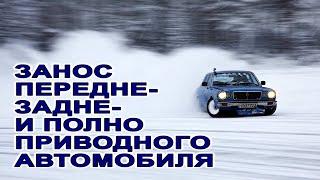 Сюрпризы зимней дороги. ESP. Полный, передний, задний привод