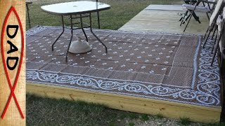 Quick Easy Deck For RV Or Backyard