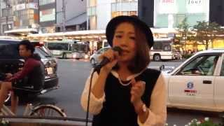 MA'LIL「First Love」(宇多田ヒカル) 2014/09/27 京都 四条通河原町 京都タカシマヤ前
