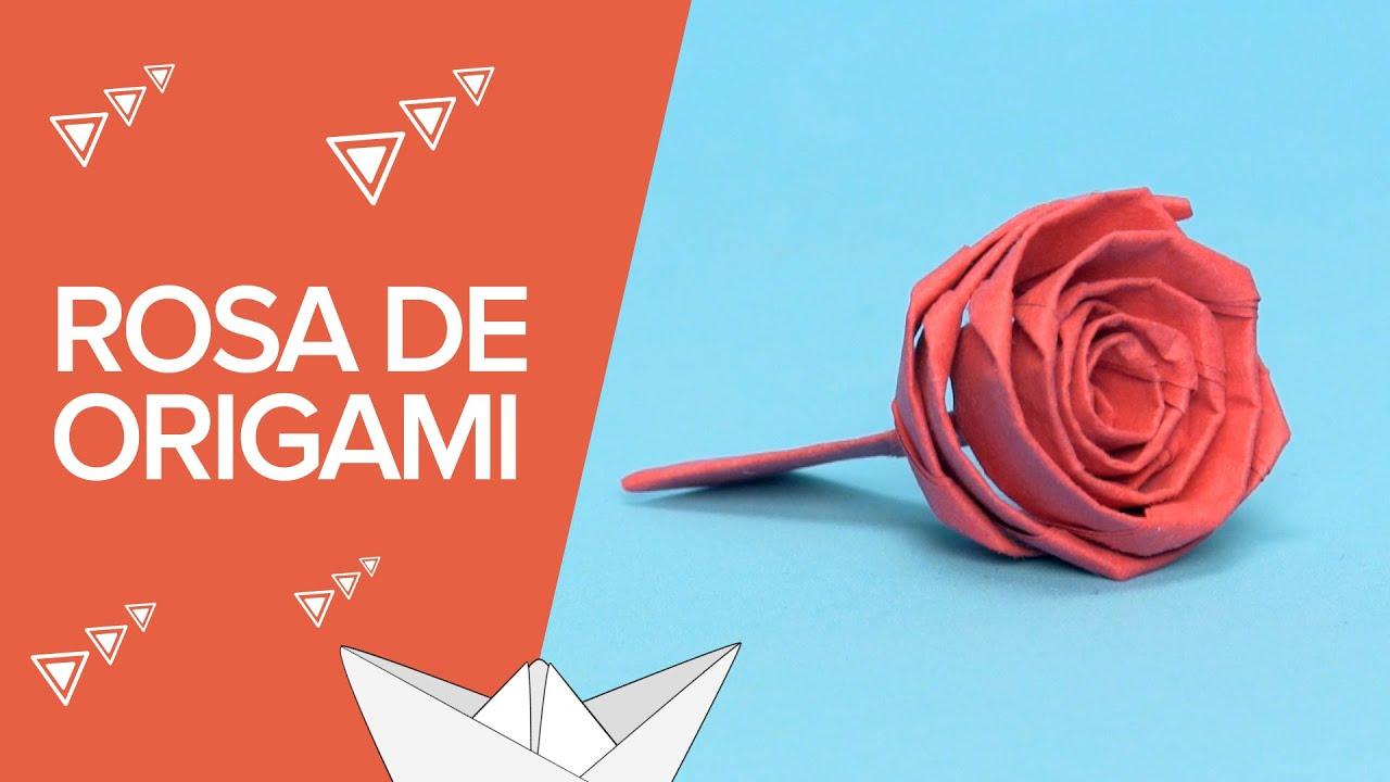 Cómo hacer una rosa de origami | Papiroflexia y regalos