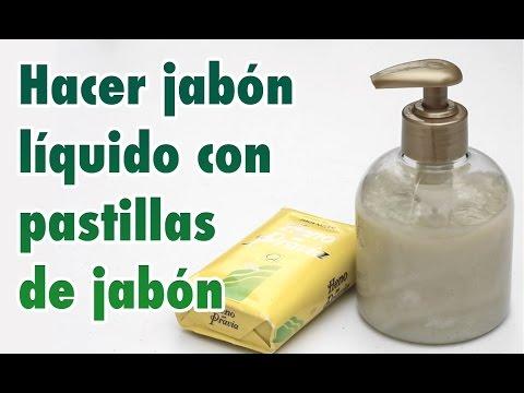 Cómo hacer jabón líquido casero o gel de baño con una pastilla de jabón