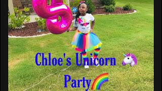 Chloe's Unicorn Quarantine Party!!! She's 8 years old!