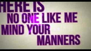 Chiddy Bang - Mind Your Manners [LYRIC VIDEO]