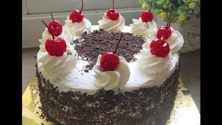 easy eggless black forest cake without oven