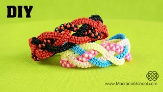 Braided Square Knot Bracelet Tutorial [DIY]