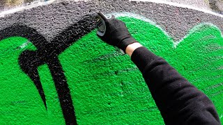 Graffiti - Tesh   Throw Up Bombing FAT CAP   GoPro [4K]