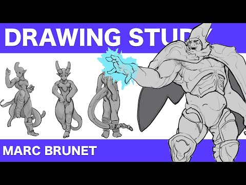 A lecture of my analysis and breakdown of how Marc Brunet, an industry icon. achieves his artwork.