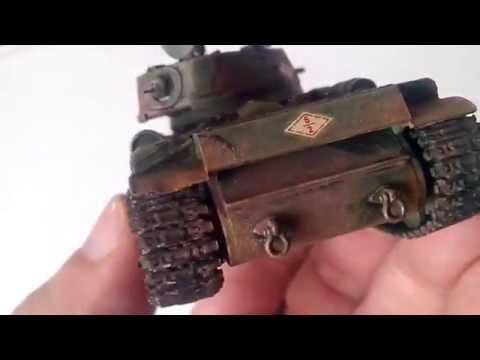 Сборка и покраска Тяжелый танк PST 72035 КВ-1С 1/72