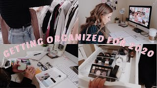GETTING MY LIFE TOGETHER FOR 2020 | ORGANIZING, CLEANING & PLANNING!