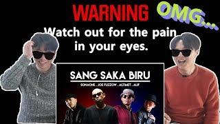 Joe Flizzow, Altimet, SonaOne & Alif - Sang Saka Biru (Korean men Reaction)