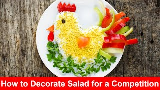 How to Decorate Salad for a Competition   Salad Recipes   Salad Decoration   #infodaily