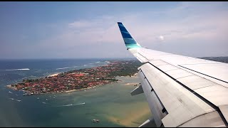 Garuda Indonesia Beautiful Landing Bali  Denpasar Ngurah Rai International Airport