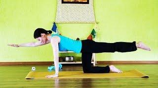 Укрепление мышечного корсета: мышц спины и живота. Наталия Комова