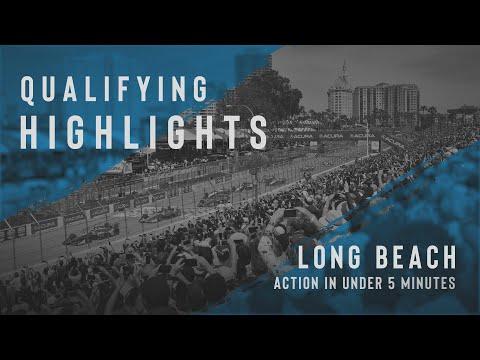 インディーカー第16戦 ロングビーチ 予選タイムアタックのハイライト動画