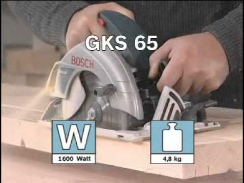 GKS 65 Professional - Hand-held Circular Saw - Bosch Power Tools For Professionals.flv