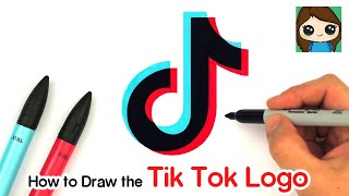 How to Draw the Tik Tok Logo