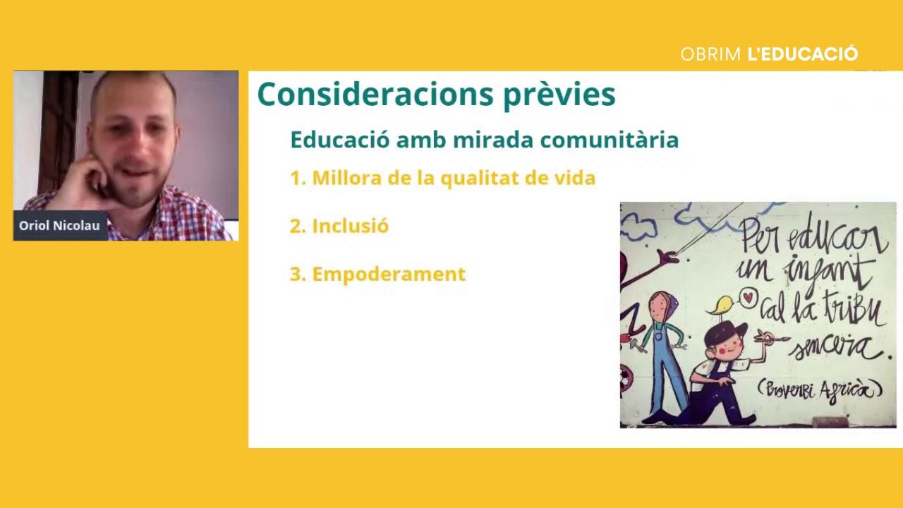Com connectar els aprenentatges de la comunitat? Amb Oriol Nicolau.