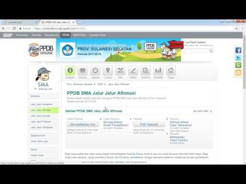 Video Cara Mendaftar Online PPDB 2017 Jalur Afirmasi Part-1