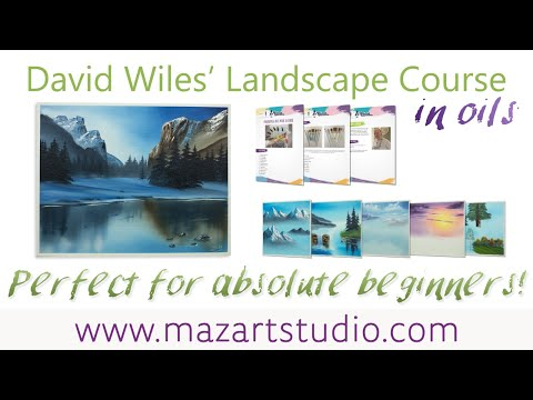 Beginners Wet On Wet Oil Painting Course ONLINE
