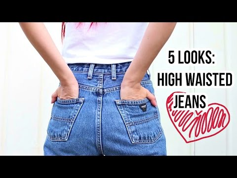 5 LOOKS: High Waisted Jeans