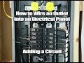 How to wire a New Outlet into a Breaker Box DIY Outlet Tutorial