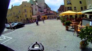 preview picture of video 'Riding through the historic center of Hall-in-Tirol'