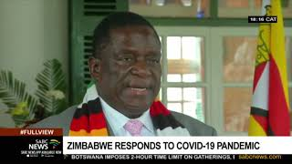 Zimbabwean President Emmerson Mnangagwa has declared COVID-19 a national disaster. This although the country has yet to record its first confirmed case of the virus. Gatherings of more than a hundred people have been banned, as well as sporting events, but schools will remain open until the first term ends.  For more news, visit sabcnews.com and also #SABCNews, #Coronavirus on Social Media.