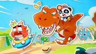 ★NEW★パンダ恐竜ワールド|子供向け知育アプリ|赤ちゃんが喜ぶアニメ|動画|ベビーバス|BabyBus