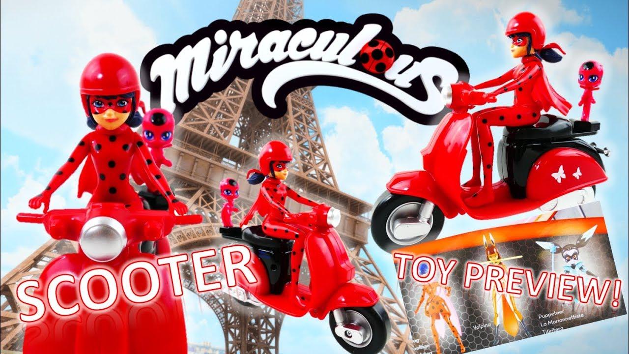 New Miraculous Ladybug Season 2 Toy - Zoomin' Ladybug Scooter and Tikki