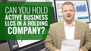 Holding Companies Explained (Rental LLCs and Active Business LLCs?)