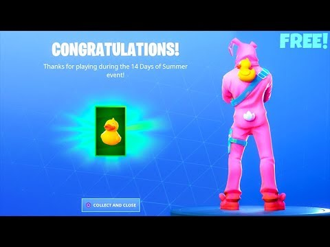 *FREE*  QUACK PACK..! (Visit a Giant Beach Umbrella and a Huge Rubber Ducky LOCATIONS) Fortnite