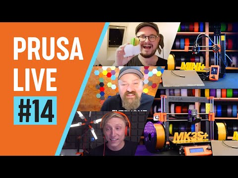 PRUSA LIVE #14 - introducing MK3S+ and MINI+, Satin steel sheet, SuperPINDA and more!