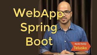 Web App using Spring Boot