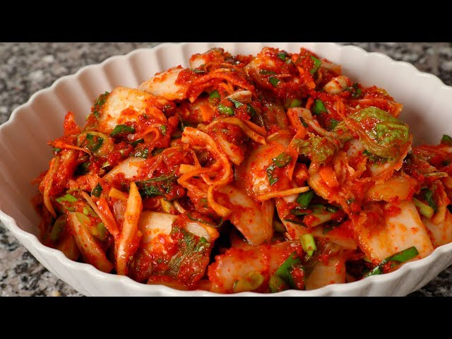 Kimchi (Vegetarian version: Chaesik-kimchi: 채식김치)