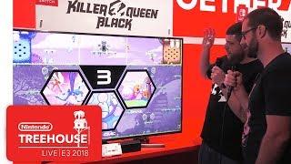 Killer Queen Black Gameplay Demo - Nintendo Treehouse: Live   E3 2018