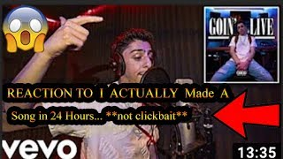 "REACTION To FazeRug ""I ACTUALLY Made A Song in 24 Hours... **not clickbait**"""