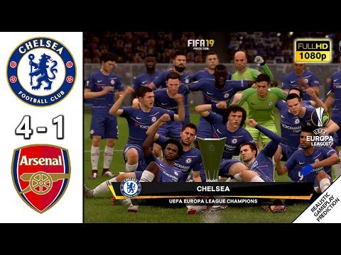 Chelsea Vs Arsenal 4-1 | FINAL | UEFA Europa League 2018/19 | 29/05/2019 | FIFA 19