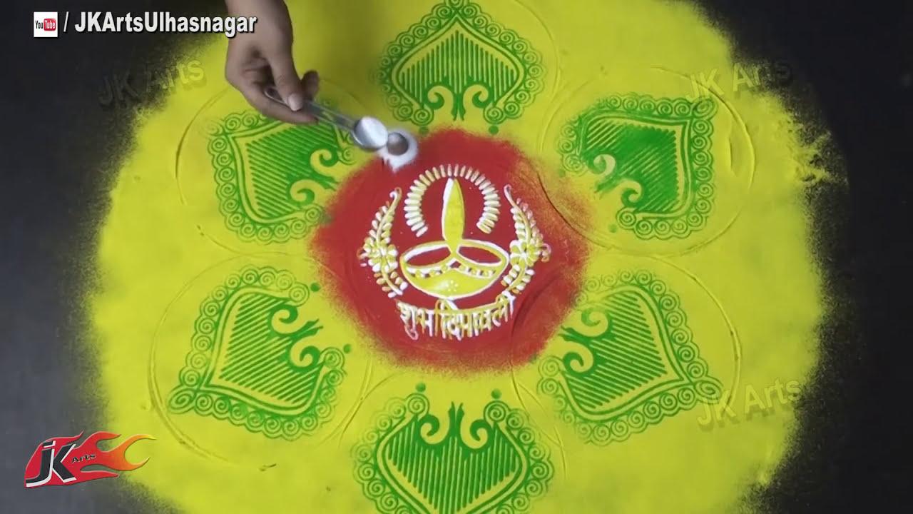 colourful sand rangoli design by jk arts