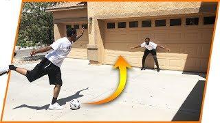 The Ghetto Penalty Kick Challenge! (We Broke The Garage!)