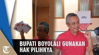Salurkan Hak Pilihnya, Bupati Boyolali Seno Samodro: Semua Berjalan Aman dan Kondusif