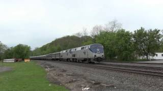 preview picture of video '[HD] Amtrak Lake Shore Limited Train P048 at Fonda, NY'