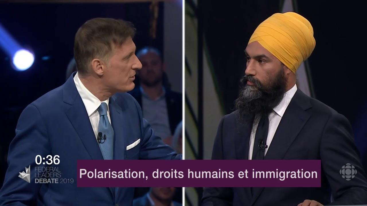 Jagmeet Singh et Maxime Bernier débattent de la Loi sur la laïcité du Québec